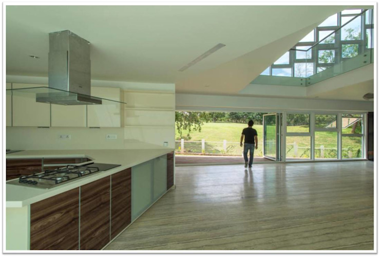Open Kitchen by Vivek Shankar Architects Modern Wood Wood effect