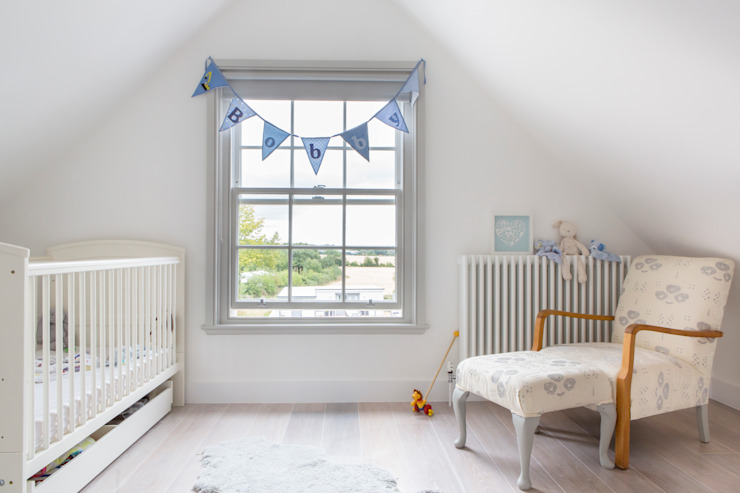 Mill house renovation and extension, Buckinghamshire:  Nursery/kid's room by HollandGreen, Modern