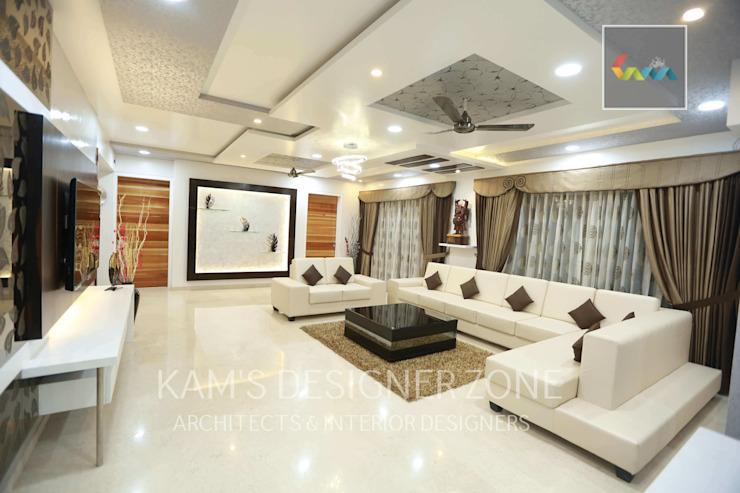 Living Room Interior Design by KAM'S DESIGNER ZONE Colonial
