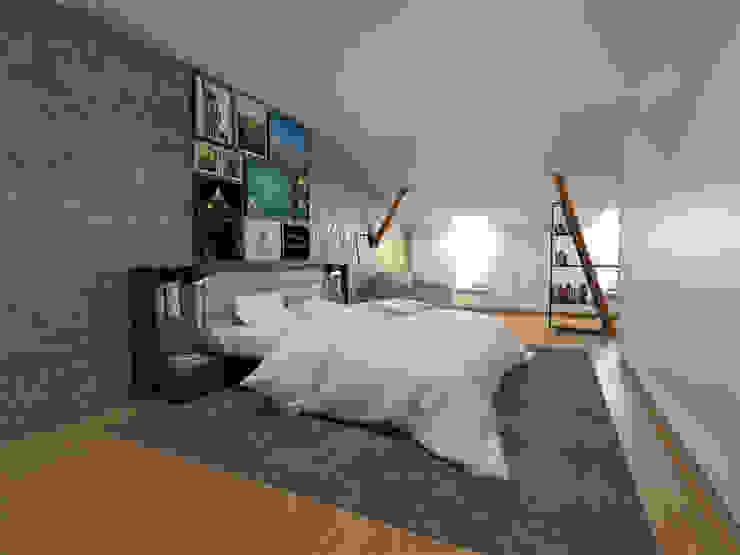 Apartamento BA14.3 - Master suite - simulação 3D The Spacealist - Arquitectura e Interiores QuartoAcessórios e decoração
