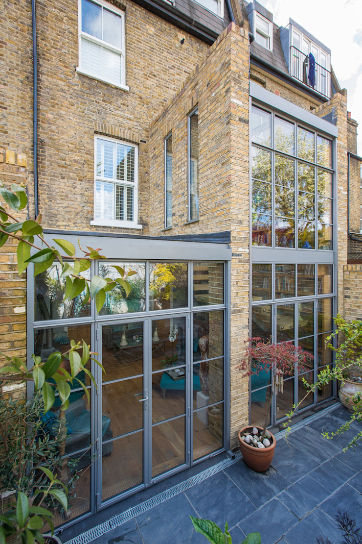 Double height crittall style extension HollandGreen Casas ecléticas