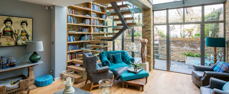 Double height crittall style extension Eclectic style study/office by HollandGreen Eclectic