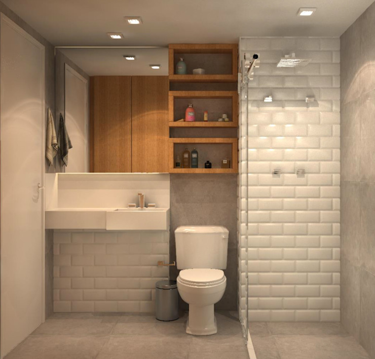 Modern style bathrooms by Fragmento Arquitetura Modern