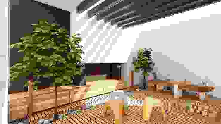 Nowoczesny balkon, taras i weranda od Modulor Arquitectura Nowoczesny Beton