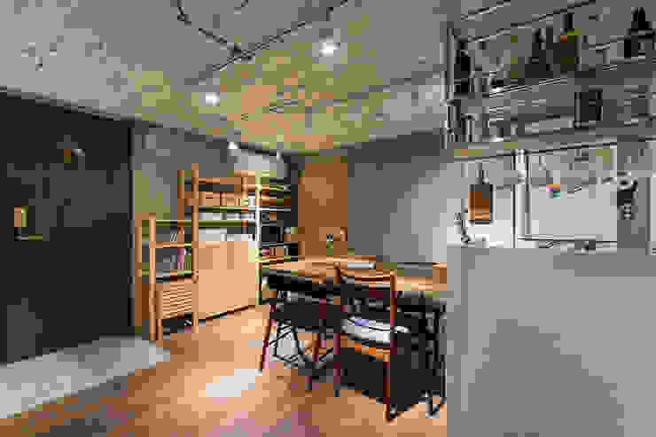 大直-溫馨質樸宅 根據 Z+SQUARE DESIGN / 正工設計 日式風、東方風