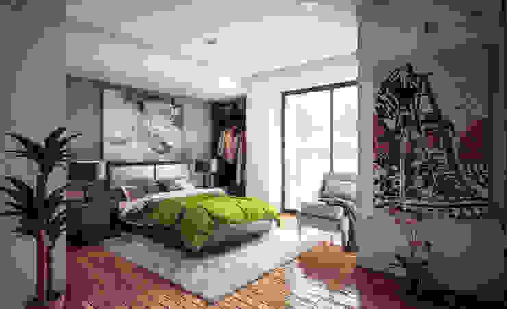 Modern style bedroom by 3h arquitectos Modern Wood Wood effect