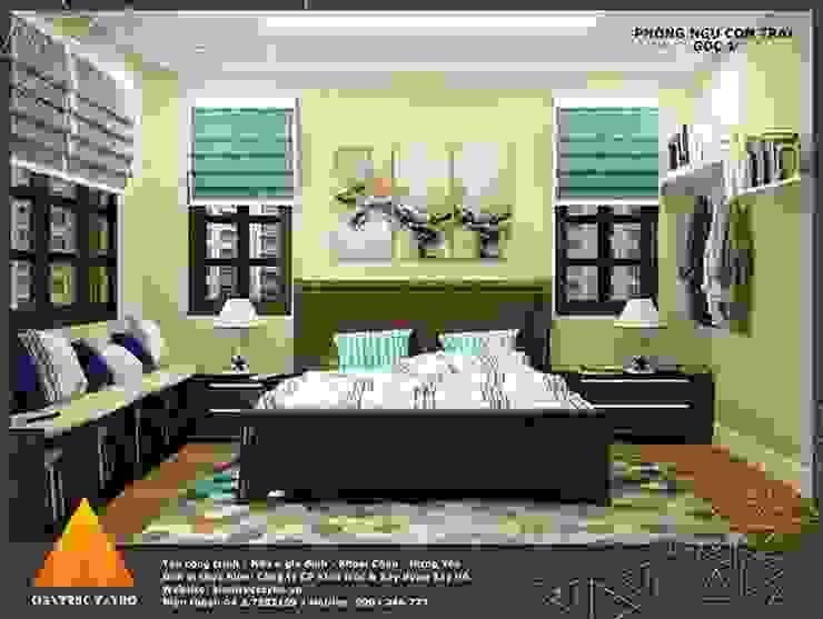 Phòng ngủ con trai view1 Phòng ngủ phong cách hiện đại bởi homify Hiện đại
