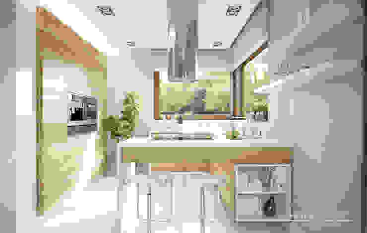 Kitchen by HomeKONCEPT | Projekty Domów Nowoczesnych, Modern