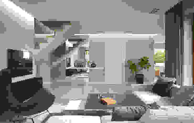 Corridor & hallway by HomeKONCEPT | Projekty Domów Nowoczesnych, Modern