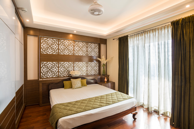 Master Bedroom Colonial style bedroom by Vivek Shankar Architects Colonial Wood-Plastic Composite