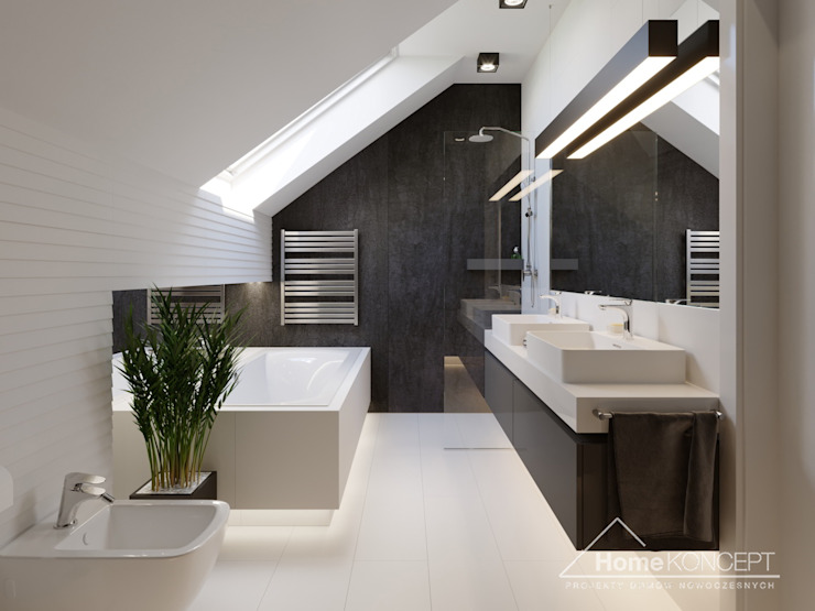 Bathroom by HomeKONCEPT | Projekty Domów Nowoczesnych