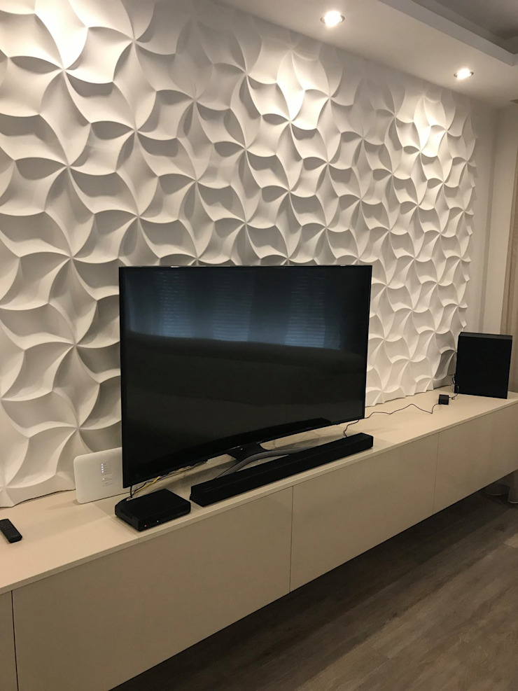 Dekorative Wandpaneele 3D Optik Moderne Wohnzimmer von Loft Design System Deutschland - Wandpaneele aus Bayern Modern