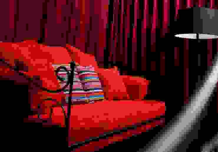 Credenza Interior Design ห้องนอนโซฟา เก้าอี้ยาว Red