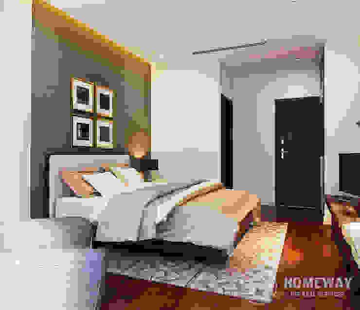Phòng ngủ Phòng ngủ phong cách hiện đại bởi HOMEWAY Hiện đại
