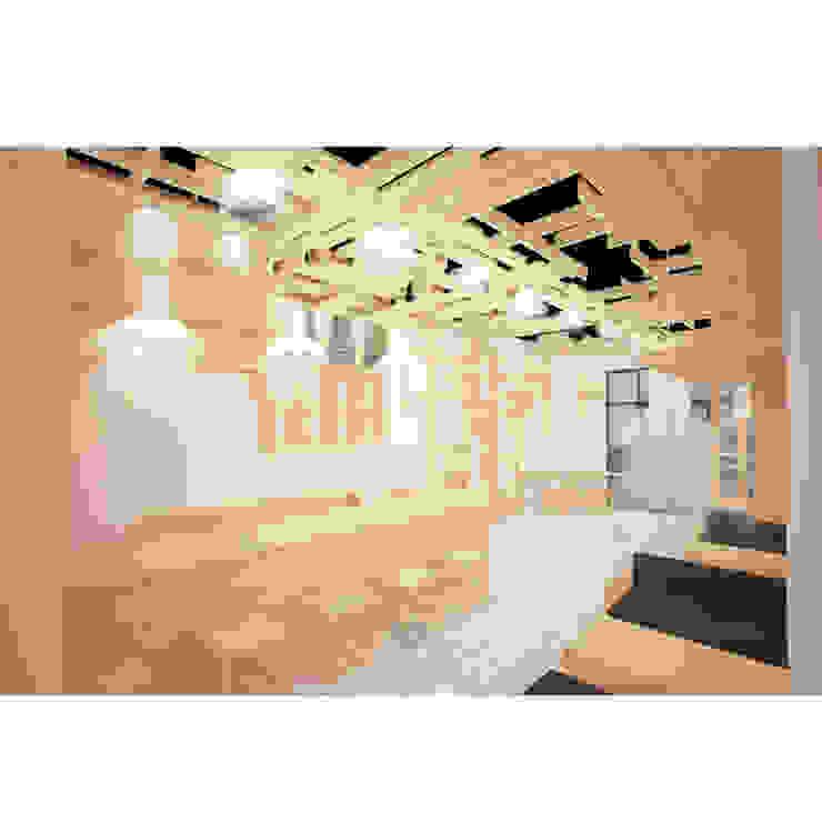 Cafeeiro 01 Ruang Komersial Gaya Eklektik Oleh Studio AKU Eklektik Kayu Wood effect