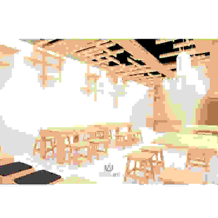 Cafeeiro 03 Ruang Komersial Gaya Eklektik Oleh Studio AKU Eklektik Kayu Wood effect