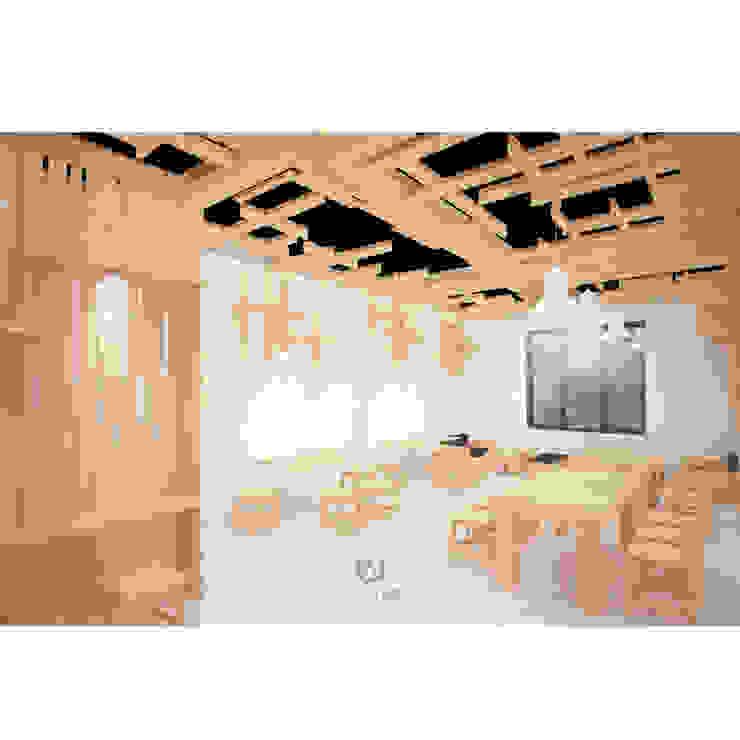 Cafeeiro 04 Ruang Komersial Gaya Eklektik Oleh Studio AKU Eklektik Kayu Wood effect