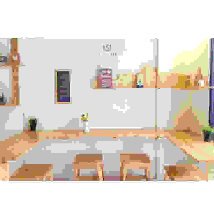 cafeeiro 07 Ruang Komersial Gaya Eklektik Oleh Studio AKU Eklektik Kayu Wood effect