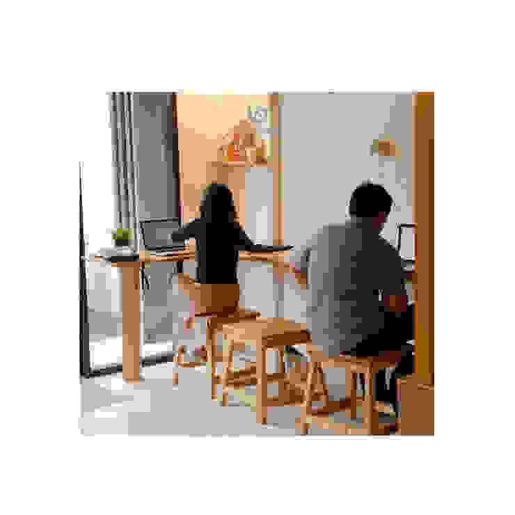 Cafeeiro 08 Ruang Komersial Gaya Eklektik Oleh Studio AKU Eklektik Kayu Wood effect