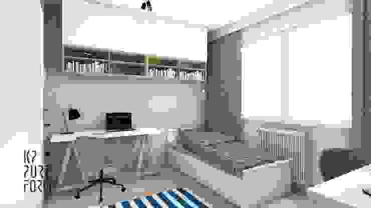 Mieszkanie studentów Skandynawski pokój dziecięcy od Katarzyna Piotrowiak Pure Form Skandynawski