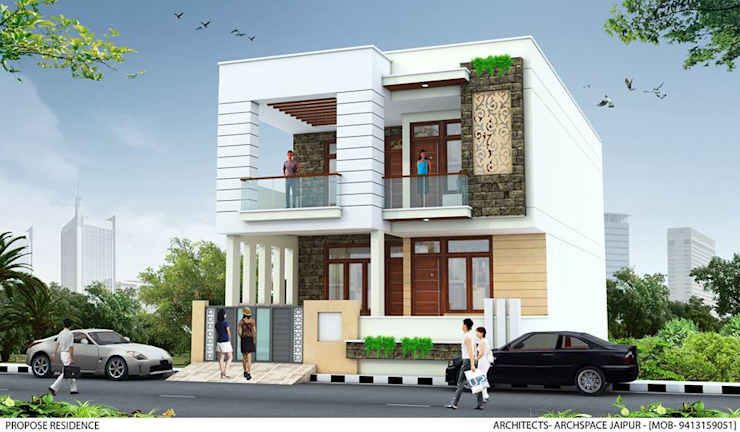 Residential Project by ArchSpace Architects Asian Bricks