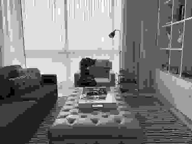 family room Salas multimedia de estilo ecléctico de Ecologik Ecléctico
