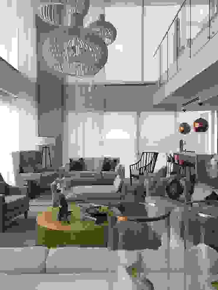 Phòng khách phong cách chiết trung bởi Ecologik Chiết trung