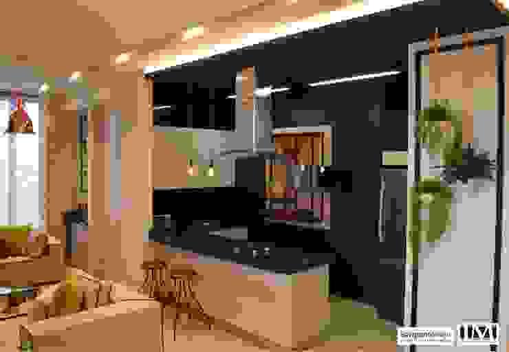 Diseño y construccion (Reforma y remodelacion) – Apto de soltero – Barranquilla Cocinas de estilo industrial de Savignano Design Industrial