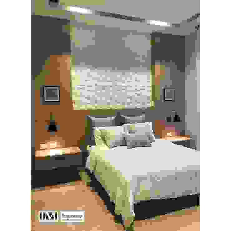 Diseño y construccion (Reforma y remodelacion) – Apto de soltero – Barranquilla Habitaciones de estilo industrial de Savignano Design Industrial