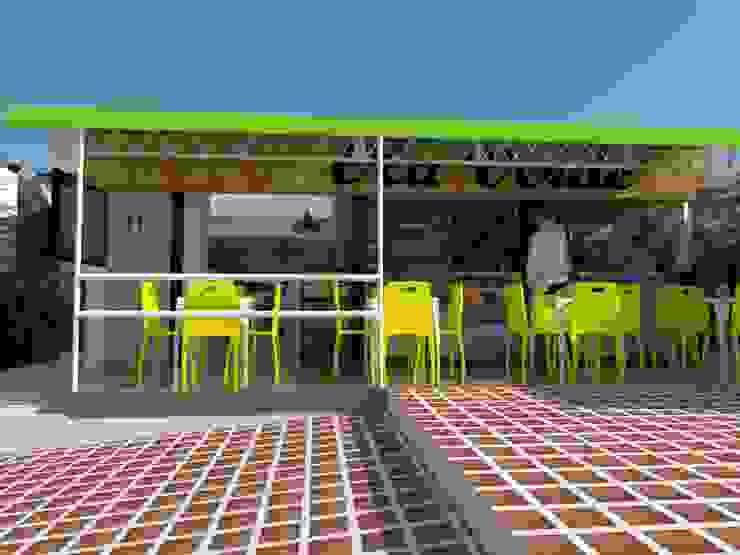 Pareti & Pavimenti in stile industriale di Naromi Design Industrial Ardesia