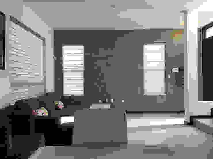 Emplaste Acabado concreto Pulido Paredes y pisos de estilo industrial de Pitaya Industrial Concreto