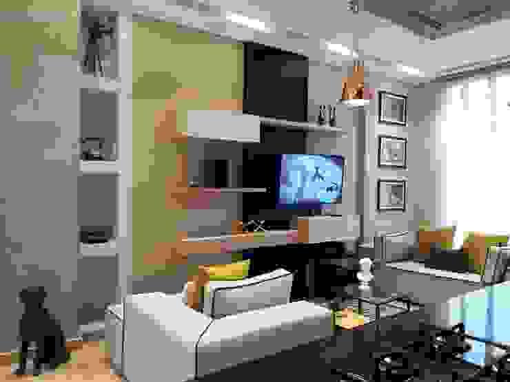 Diseño y construccion (Reforma y remodelacion) – Apto de soltero – Barranquilla Salas de estilo industrial de Savignano Design Industrial