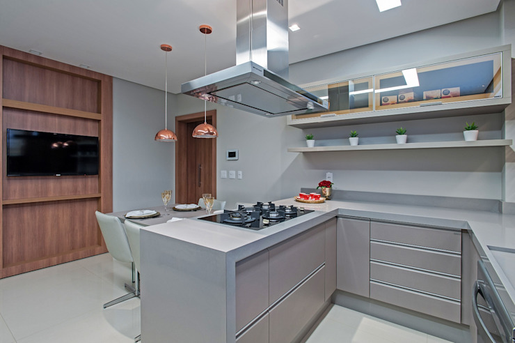 Carolina Kist Arquitetura & Design Modern kitchen
