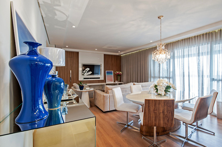 Carolina Kist Arquitetura & Design Ruang Keluarga Modern