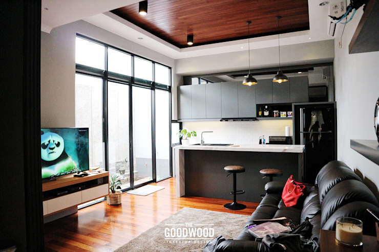 Rumah A+S Balkon, Beranda & Teras Modern Oleh The GoodWood Interior Design Modern
