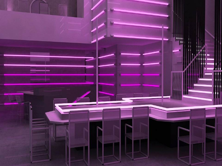 High quality photo realistically rendered model of the proposed night club by Hitech CADD Services