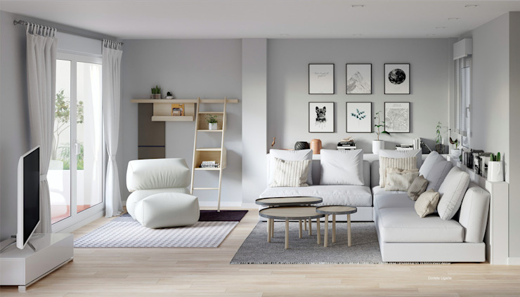 Scandinavian style living room by homify Scandinavian Wood Wood effect