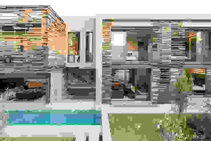 Rear Facade & Swimming Pool by Nico Van Der Meulen Architects Modern