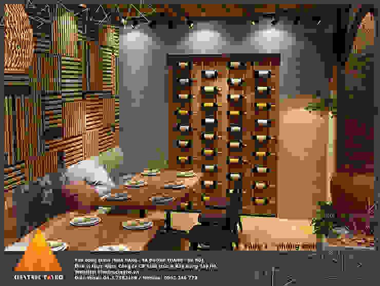 Tầng 1 - Phòng trong view 1 Phòng ăn phong cách mộc mạc bởi homify Mộc mạc