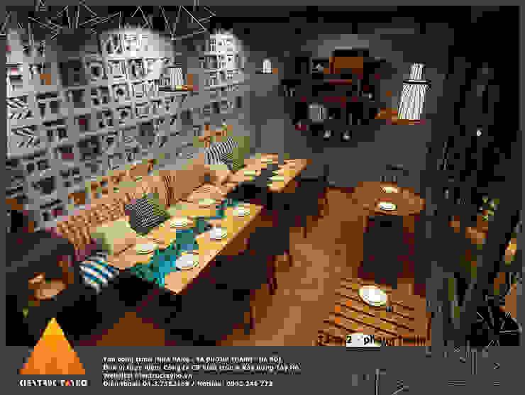 Tầng 1 - Phòng trong view 2 Phòng ăn phong cách mộc mạc bởi homify Mộc mạc