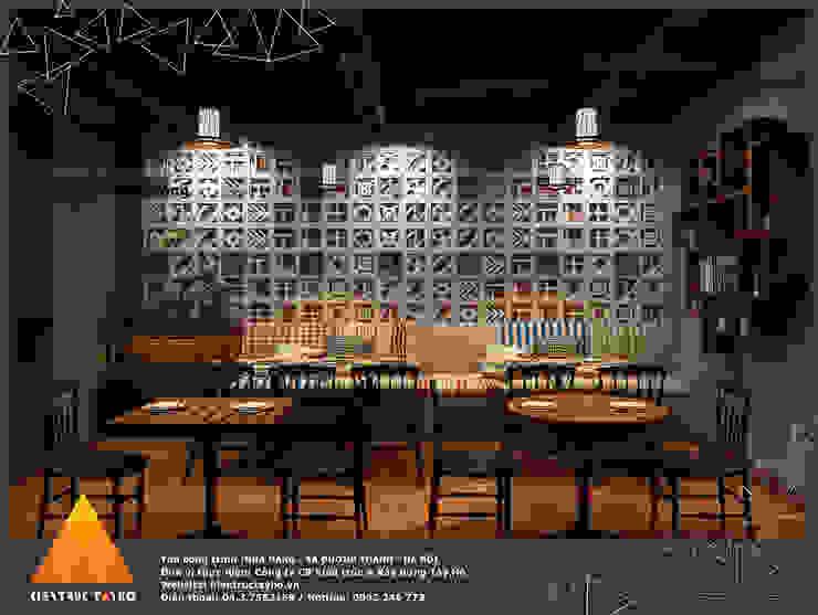 Tầng 1 - Phòng trong view 4 Phòng ăn phong cách mộc mạc bởi homify Mộc mạc