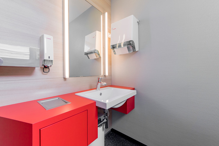 Ohlde Interior Design Modern office buildings MDF Red
