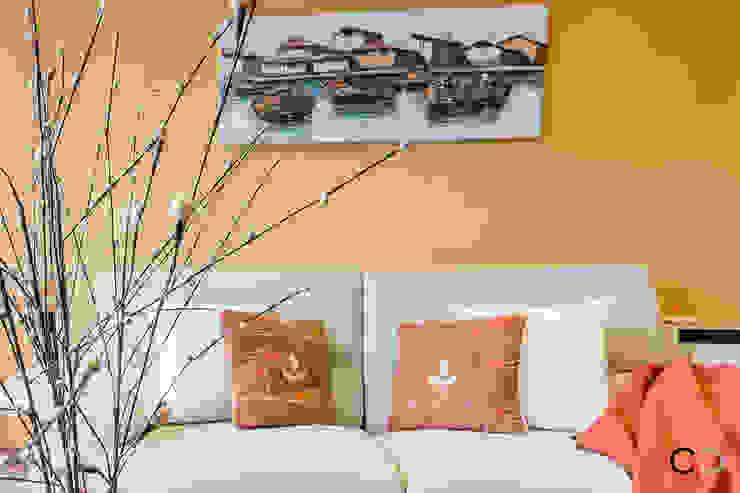 CCVO Design and Staging Modern living room Orange