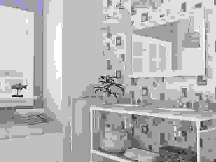 Papel pintado motivos marineros y conchas para baños de Papel pintado para paredes Gaulan Ecléctico