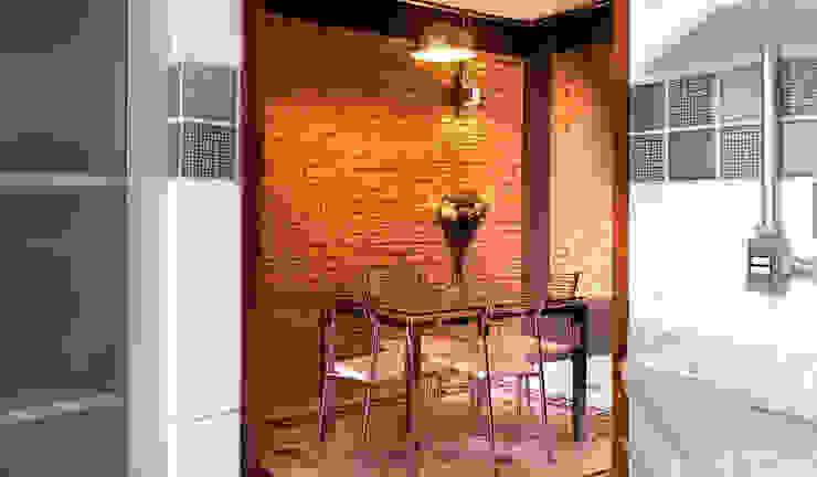 Phòng ăn phong cách mộc mạc bởi JMN arquitetura Mộc mạc Gạch