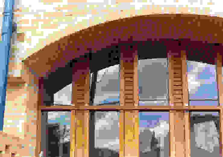 Paredes de estilo  por JMN arquitetura, Rústico Ladrillos
