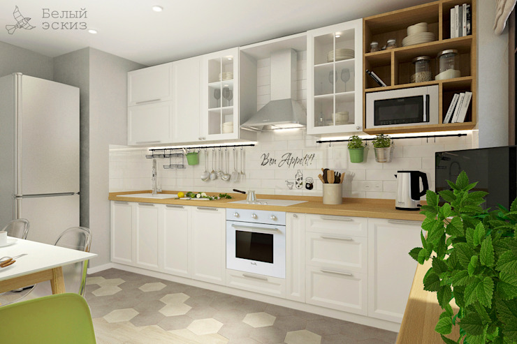 Kitchen by Белый Эскиз, Scandinavian