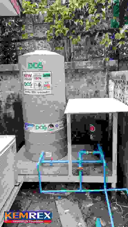 งานฐานราก วางปั๊มน้ำ และแท้งค์น้ำ โดย บริษัทเข็มเหล็ก จำกัด