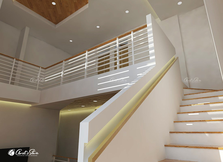 Stairs by christstevie architecture interior contractor Minimalist Wood Wood effect