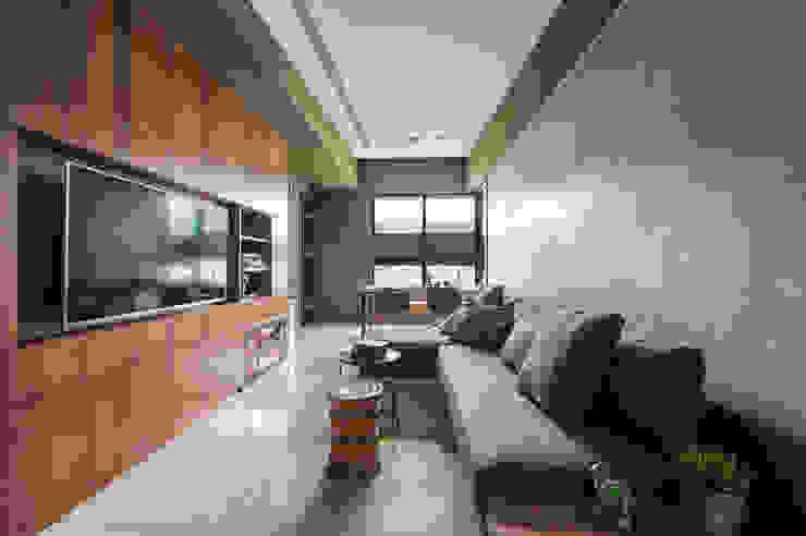 Phòng khách phong cách Bắc Âu bởi 齊禾設計有限公司 Bắc Âu